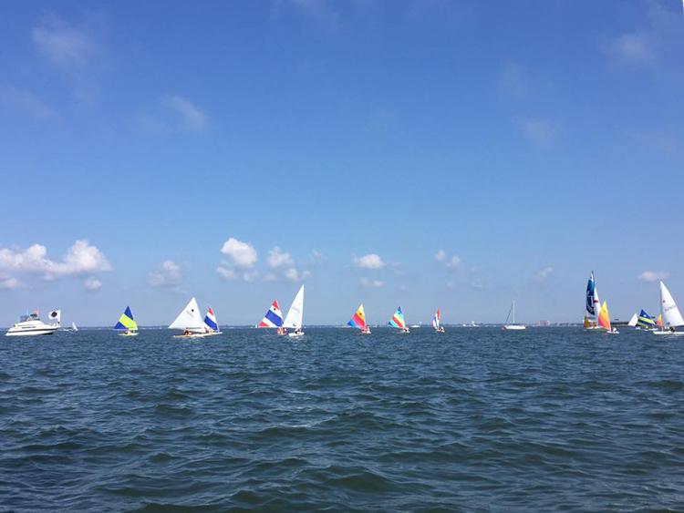 The fleet enjoyed beautiful conditions.