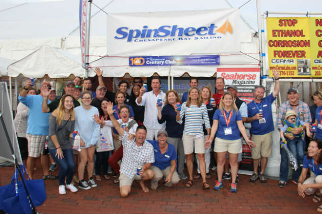 Team SpinSheet and friends celebrating our 21st birthday in 2016 at the SpinSheet booth.