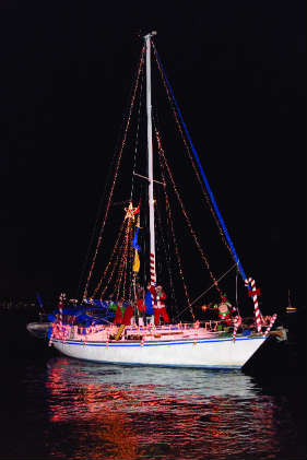 Yorktown, VA, Lighted Boat Parade takes place December 2