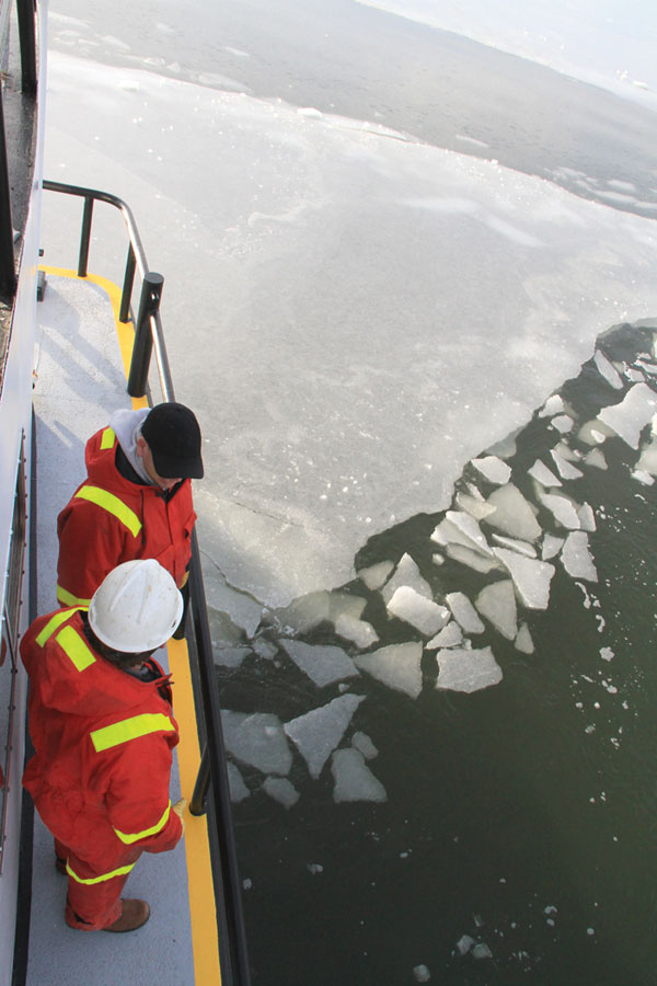 There is no charge for ice-breaking services, which are funded by boating taxes and license fees.