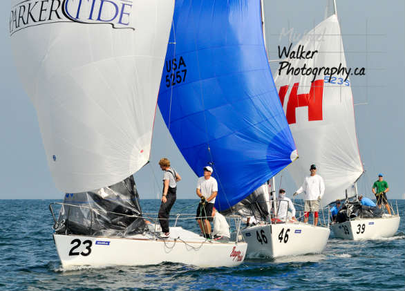 Tony Parker's Bangor Packet (bow 23) at the J/24 Worlds. (505 roundup) Photo by Michael Walker Photography