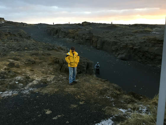 Jerry and Joanne Christofel in Iceland for Blue Friday 2017