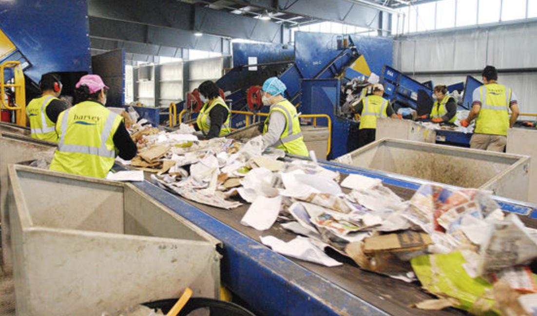 Trash sorting center.