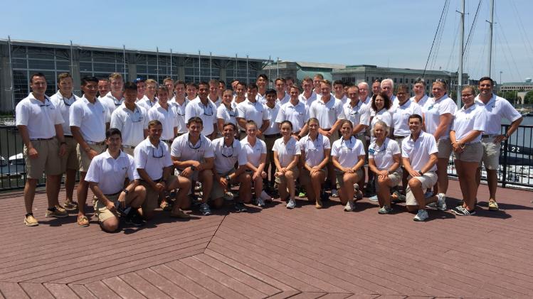 USNA Basic Sail Training Team. Kyte is at far right, bottom row.