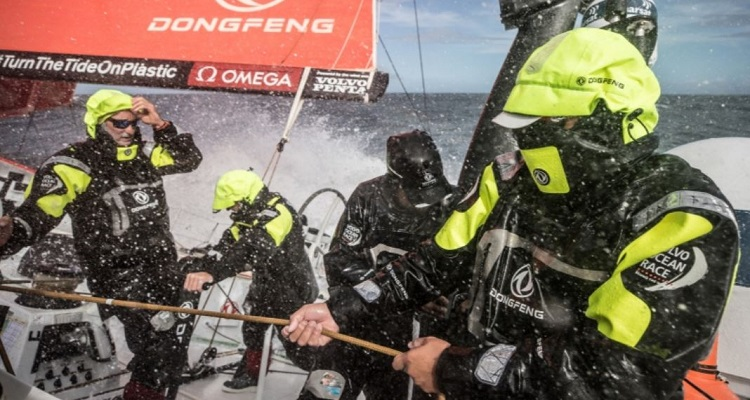 Guys, I've had a thought... we could just catch a flight from Auckland to Brazil. Champagne, in-flight movies... thoughts? -- photo from volvooceanrace.com