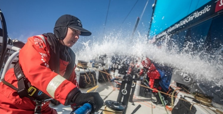 Don't look over your shoulder... -- photo from volvooceanrace.com