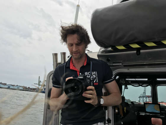 Helly Hansen's photographer for the day, Peter Buckingham.