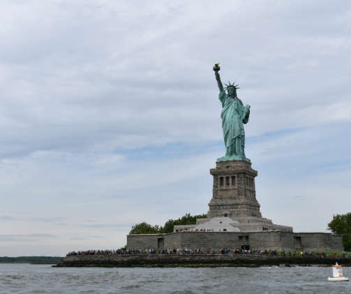 Lady Liberty, a gift to the U.S. from France, seemed a fitting symbol for the day. Photo by SpinSheet