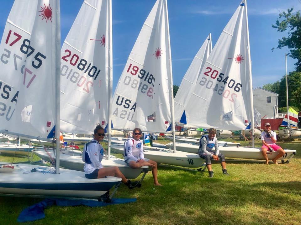 TAYC juniors at the Junior Olympics 2018 at Baltimore County Sailing Center