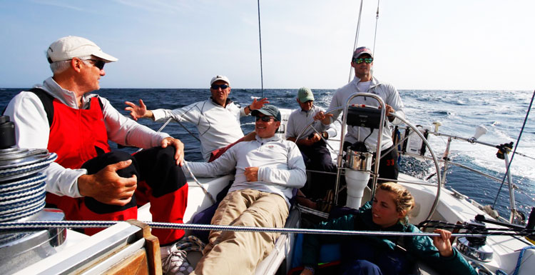 The crew of Carina on the 2016 Annapolis to Newport Race. Photos by Ted Steeble
