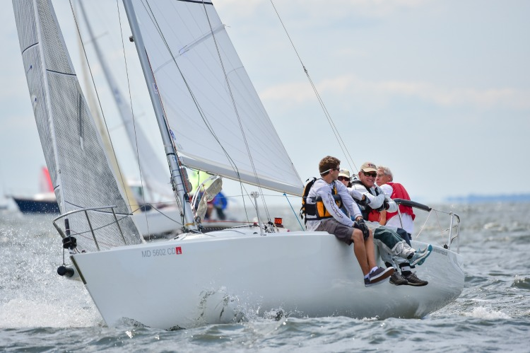 John White and team at a 2016 event--this was not taken at the 2017 AYC Summer One Design. Racing Roundup pho