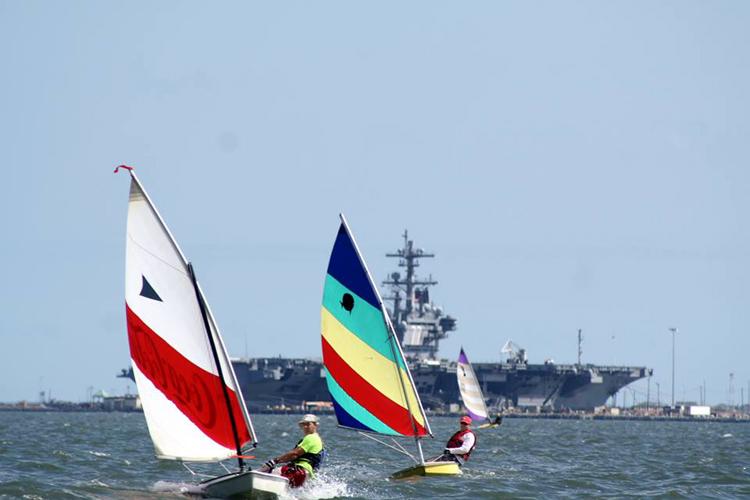 Sunfish Challenge recreation fleet sailors.