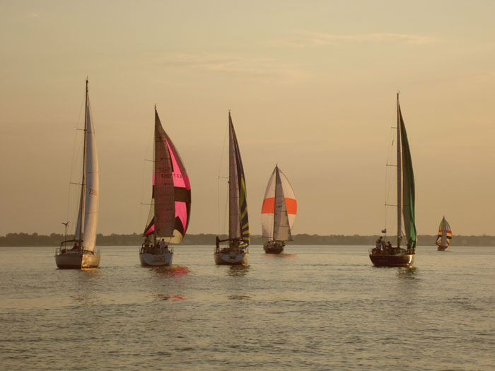 Sailors new to the Chesapeake Bay region should seek a new sailing club to join. Photo courtesy Lee Budar-Danoff