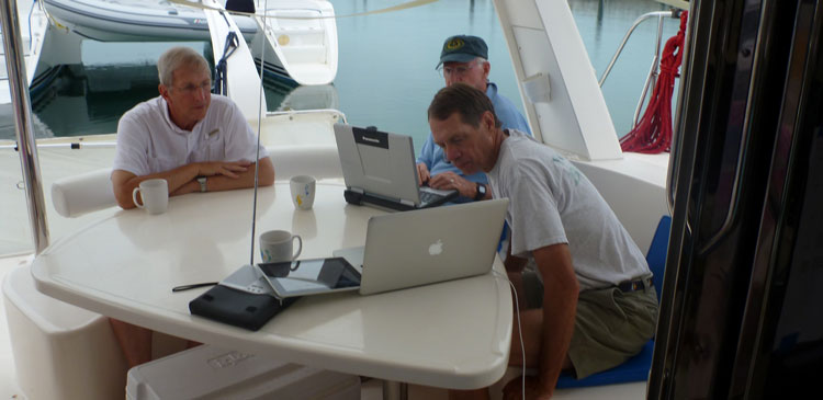 Before departure, do you study your chart to see where the channels, buoys, and shoals will be? Photo by Terry Slattery