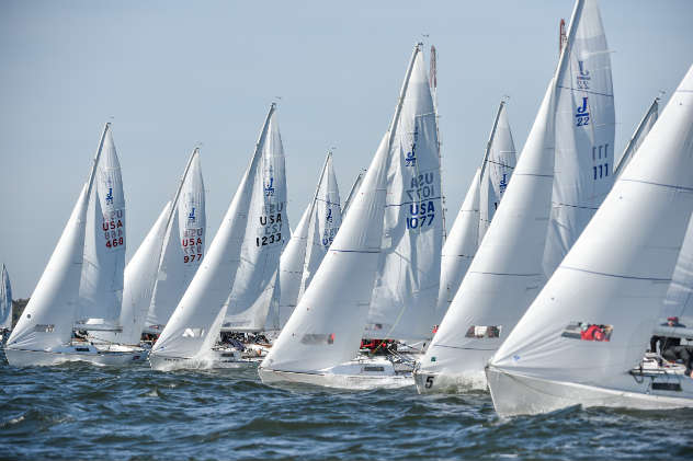 Sailboat racing photo by Dan Phelps/ SpinSheet