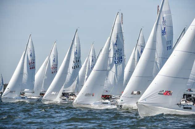 Sailboat racing photo by Dan Phelps/ SpinSheet