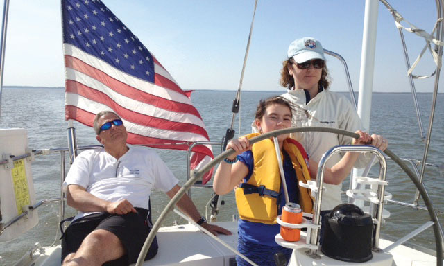 Three generations sailing to Baltimore. Photo courtesy of Mike Boylan