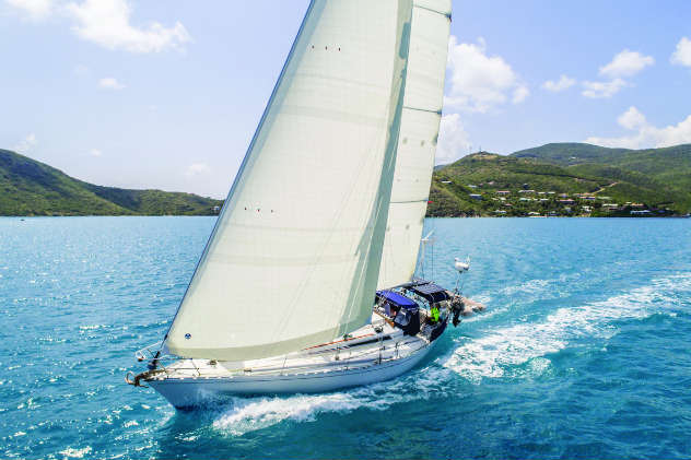 NORDAC cruising sails in action in the BVI.