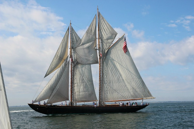 Schooner Virginia at the CCCup. Photo by Eric Brinsfield