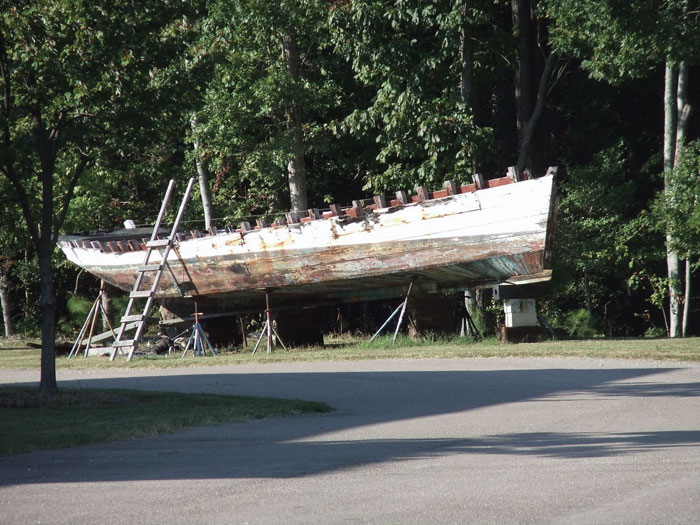 The skipjack George W. Collier, then called Norfolk, in 2012. The 115-year old boat is now in Deal Island, where she was built, to be preserved.