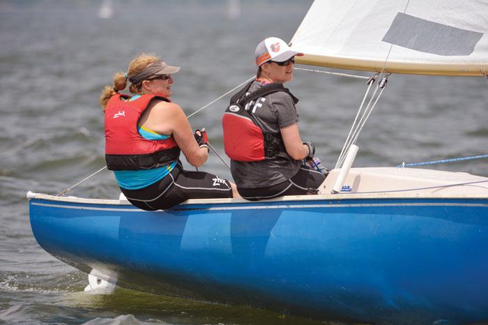 Sailboat racing. Photo by Dan Phelps