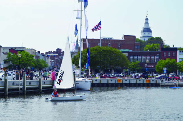 Ego Alley becomes Demo Alley during the Annapolis Spring Sailboat Show.