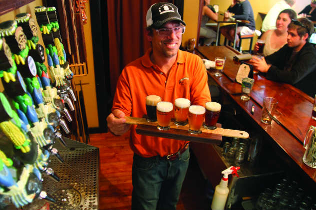 Local beers at Eastern Shore Brewing. Photo by Craig Ligibel