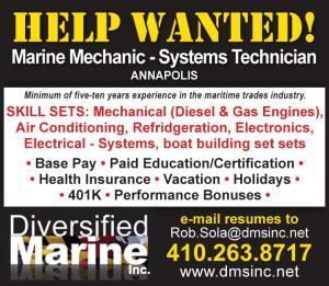 Help Wanted for Marine Mechanic - Systems Technician at Diversified Marine in Annapolis, MD