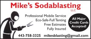 Mike's Sodablasting provides quick, thorough mobile and in-house services. Bottom Paint removal serving marine, automotive, commercial, and residential customers throughout MD, DE, VA, and DC