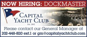 Capital Yacht Club is now hiring for a Dockmaster.