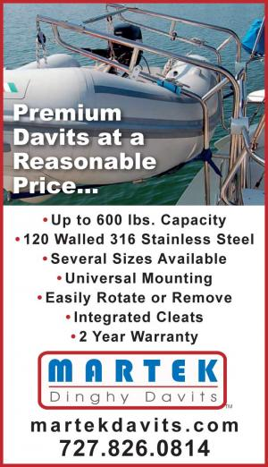 Martek Davits have premiums dinghy davits at a reasonable price.