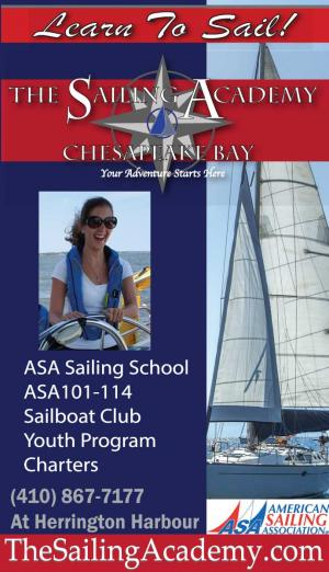 Learn to sail at the Sailing Academy School at Herrington Harbour