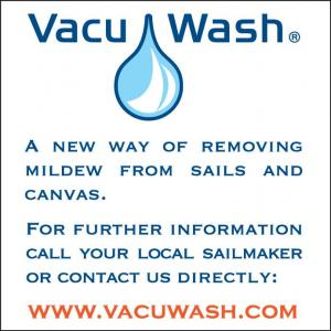 Vacu-Wash is a new way of removing mildew from sails and canvas.