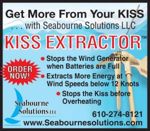 Seabourne Solutions, Kiss Extractor, stops the wind generator when batteries are full