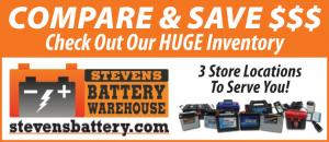 Steven's Battery Warehouse has three store locations to serve you.