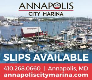 Annapolis City Marina has slips available in Annapolis, Maryland.