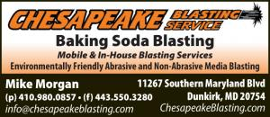 Chesapeake Blasting Service is a Mobile Baking Soda and Abrasive blasting services located in Dunkirk, Maryland.