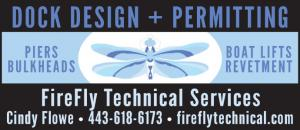 Firefly Technical Services offers Dock Design and Permitting, piers, bulkheads, boat lifts, and revetment.
