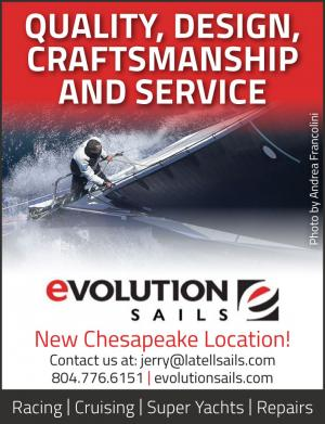 Evolution Sails has a new chesapeake location for sales and repairs of racing, cruising, and super yachts.