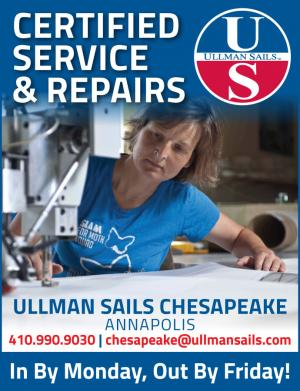 Certified Service and Repairs with Ullman Sails Chesapeake Annapolis.