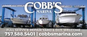 Cobb's Marina is a full service repair yard located on Little Creek in Norfolk, Virginia
