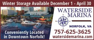 Waterside Marina is conveniently located in the heart of Downtown Norfolk, on the Elizabeth River with many conveniences and amenities.