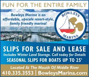 Bowleys Marina is an affordable, upscale resort-style, family friendly marina! Slips for sale and Lease<br>Includes Winter Land Storage. Call today for Details. Seasonal slips for boats up to 25'. Located At The Mouth Of Middle River.