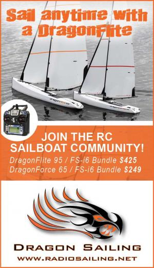 Sail anytime with a Dragonflite. Join the Dragon Sailing RC sailboat community.