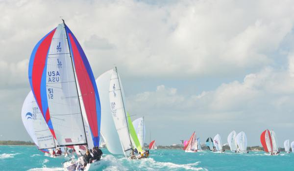 J/70s at Quantum Key West Race Week. Photo by Shannon Hibberd