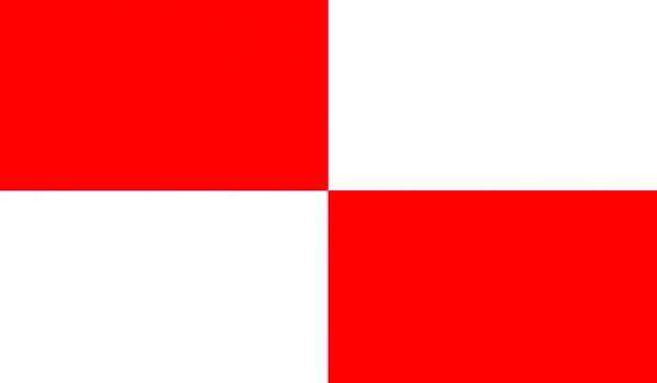 The U flag—which features red and white squares—is a kinder, gentler black flag.