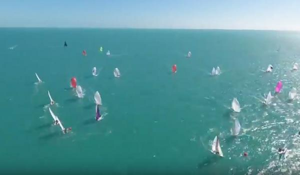 Drone video of J/70s racing at Key West Race Week by Quantum Sails