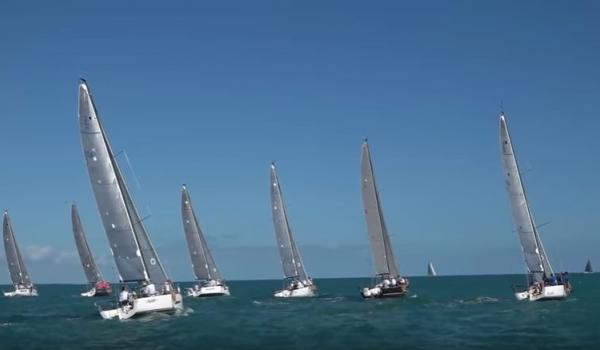 Still from T2P.tv's coverage of Quantum Key West Race Week