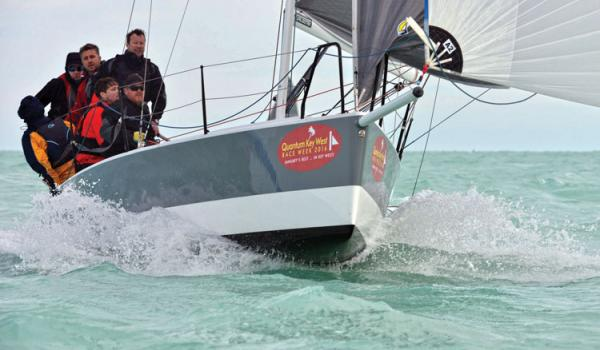 Rattle n Rum, with Mike Beasley at the helm. Photo by Allen Clark for Photoboat