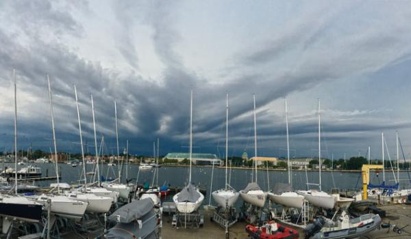 Weather-watching vigilance is a year-round habit for sailors. Photo by Ashley Love